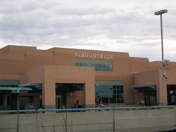 Exterior View Of Albuquerque Airport