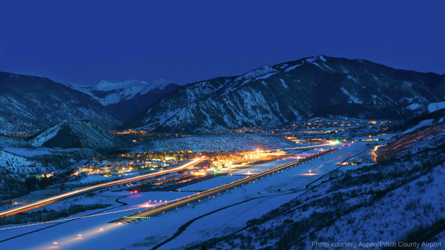 Aspen Colorado Nighttime Lights