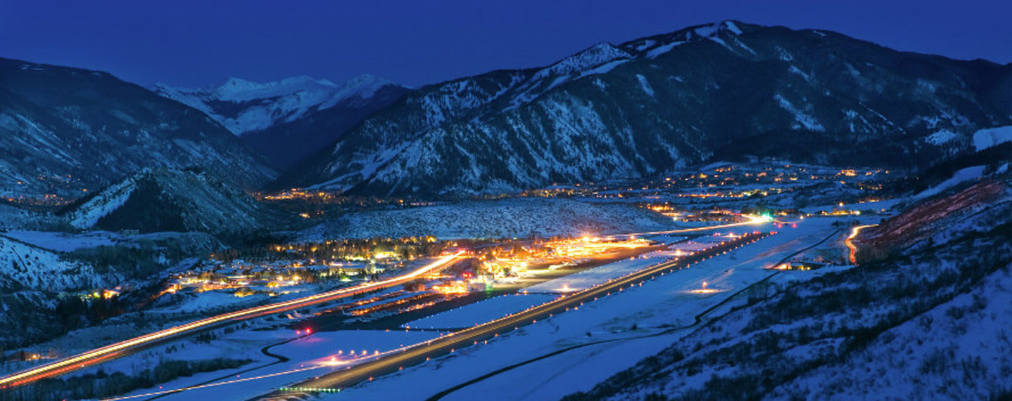 Nighttime Lighting Aspen Airport