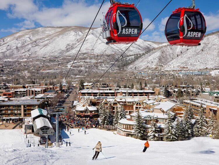 Gondola Up Into Aspen Mountain Baby