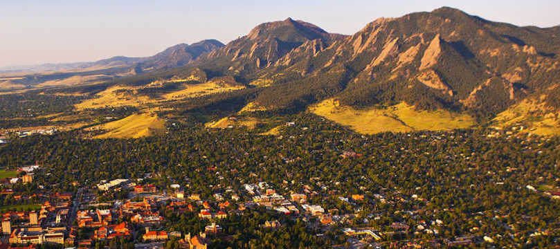Boulder Colorado Flatirons Sunset