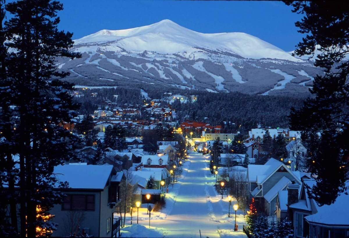 Snowy One Way Zone Breckenridge Colorado