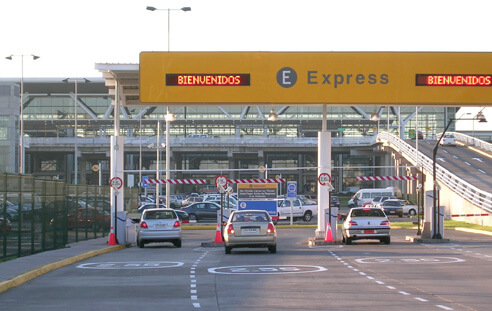 Going Into Rental Center Santiago Airport