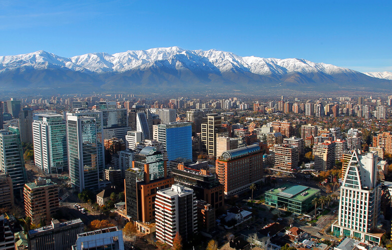 View From Above Santiago Chile