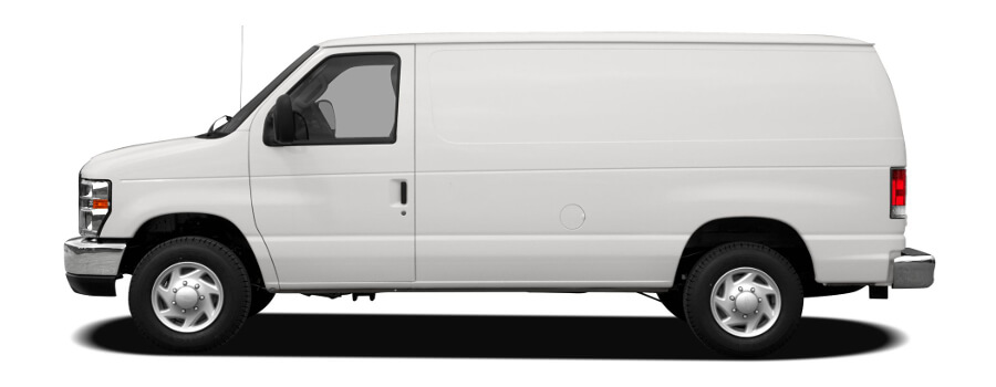 White Rental Cargo Van Plain
