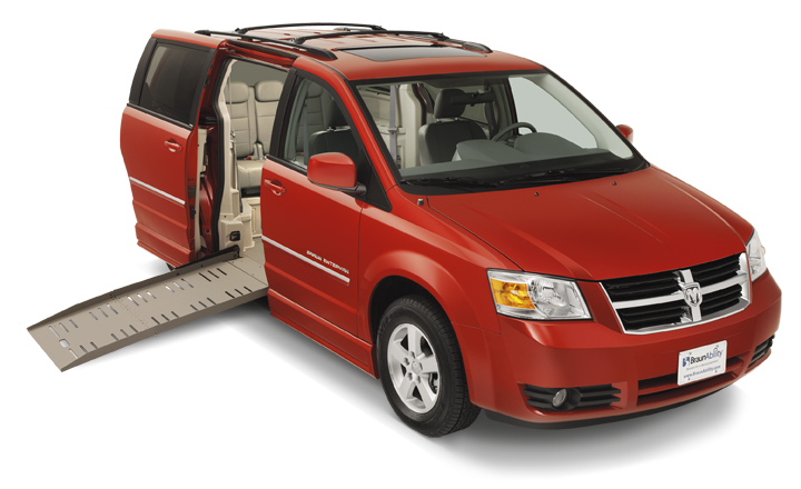 Rental Handicap Van With Red Color