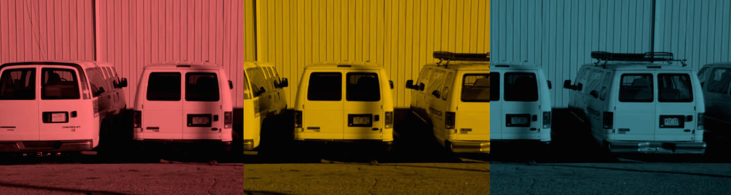 Comparing Colored Photo Rental Van