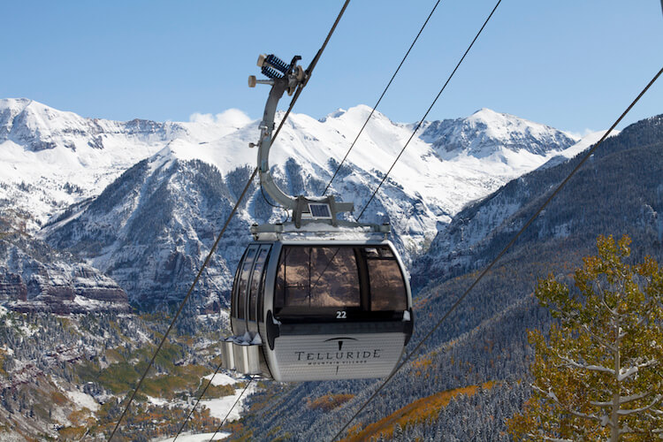 Going Up The Telluride Gondola