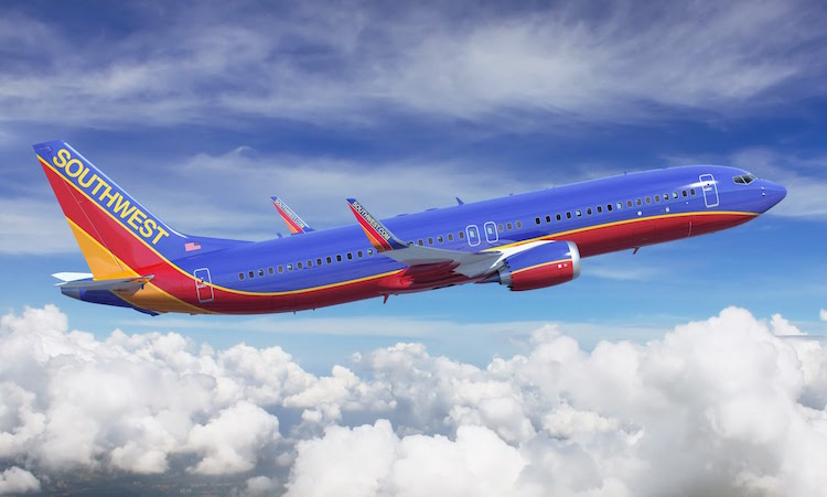 Southwest Plane Flying In Air
