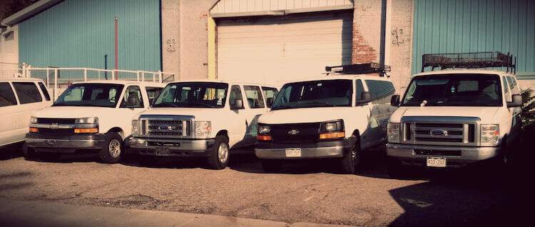 Old Look At Switchback Rental Van Fleet